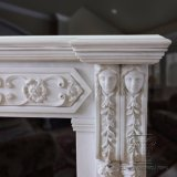White Marble Fireplace for House/Villa Living Room Decoration