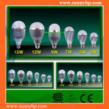9W Aluminum Silver Shell LED Bulb Light with IEC62560