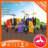 Adventurous Plastic Climbing Wall Playground Set