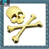 Wholesale Custom Logo Car Tail Horror Skull Bones Sticker 3D Metal Chrome Emblem