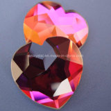 Hq Created Glass Stones Big Size Heart Shaped Galss Gems for Jewelry