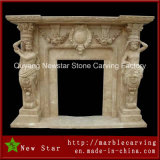 Natural Stone Sculpture Marble Fireplace Limestone Fireplace Surround