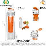 2015 Brand New Fashion Plastic Fruit Infuser Water Bottle, BPA Free Tritan Water Bottle (HDP-0601)