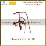 Rose Golden Sanitary Ware Bathroom Faucet Shower Set