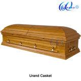 Oak Veneer MDF Top Seller Velvet Coffin and Casket