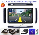 "Slim Design 5.0"" Car Truck GPS Navigation with AV-in, FM Tranmitter, Bluetooth, ISDB-T TV"