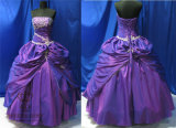 Purple Embroidery Princess Prom Dresses