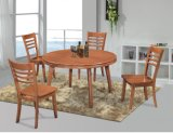 Classic Solid Wood Rubber Wood Dining Table and Chairs (JHK-188)