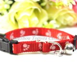 Cat Collat with Printed Paws Bell Pet Collar Pet Products