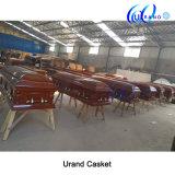 Solid Poplar Best Seller Velvet Interior Gloss Casket and Coffin