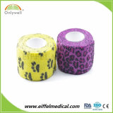 Delicate Colors Non Woven Printing Cohesive Veterinary Bandages