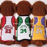 Polyester Fiber Basketball Team Pet Clothes Dog Tshirt Jersey