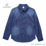 New Style Slim Comfortable Boys′ Long Sleeve Denim Shirt by Fly Jeans