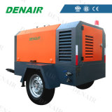 High Efficiency Oil Injected Portable Mobile Diesel Screw Air Compressor