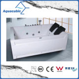 Rectangle ABS Board Whirlpool Massage Bathtub in White (AB0813)