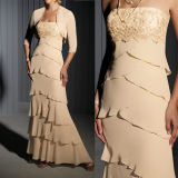 Strapless Mother of The Bridal Dress Chiffon Jacket Evening Dress M1305201