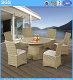 Garden Outdoor Round Wicker Rattan Dining Set Table and Chairs