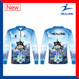 Healong Sportswear Fashion Full Sublimation Mens Fishing Jersey