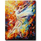 Hand-Painted Modern Figure Palette Knife Wall Art Decor Abstract Hoofer Oil Painting on Canvas