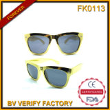 Fk0113 Classic Sunglasses with Golden Frame