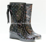 Updated Fashion High Heels Women Rain Rubber Boots