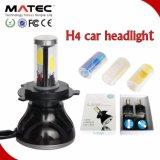 Long Life Time 4/PCS COB 8000lm 80W 12V 24V H4 Headlight LED