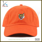 Custom Tiger Embroidered Unstructured 6 Panel Dad Hat Baseball