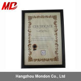 Cheap Plastic Material Document Frame