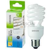 Ultra-Compact T3 9W, 11W, 15W, 20W, 25W Half Spiral Compact Fluorescent Light Bulb