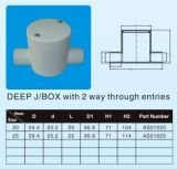 Electrical Fittings in AS/NZS2053 Standard ---2 Way Deep J/Box with
