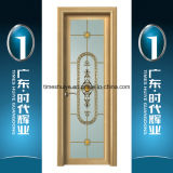 Aluminium Casement House Door Interior Door with Decorative Glass Panel