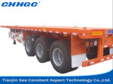 Heavy Duty Flatbed 3 Axle 20FT 40FT Container Semi Truck Trailer Price
