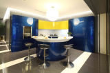 2015 Hangzhou Welbom Newest Champagne Blue Lacquer Kitchen Cabinets