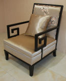 Chinese Design Wooden Hotel Sofa Accent Chair /Lobby Furniture