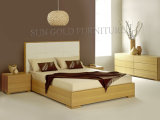 Wooden Bed with Leather Bed Head for Bedroom Furniture (SZ-BF145)