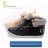 Hot Selling Ankle Kids Boots with Synthetic Fur Collar