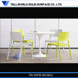 Hot Sale Solid Surface 4 People Round Dining Table for Home and Restaurant