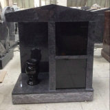 Bahama Blue Granite Columbarium with Black Niche Door