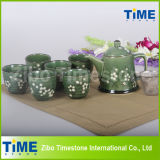 Hot Sale Stoneware Hand Painted Tea Set