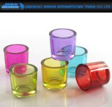 Romantic Home Colorful Glass Cup Candlestick Candle Holder