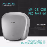 Stainless Steel Cover High Speed Energy Efficient Hand Dryer AK2900