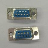 D-SUB 9 Pin Male Solder Blue