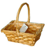 Eco-Friendly Handmade Customized Wicker Picnic Storage Basket with Natural Color