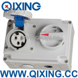 ABS Mechanical Industrial Socket Electrical 2 Pin Socket with Switch