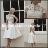 Cap Sleeves Wedding Gown Knee Length Beach Bridal Dresses W14045