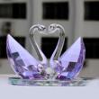 Purple Crystal Swan Gift as Wedding Gift
