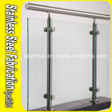 Floor Mounting Stainless Steel Handrail Post with Glass Clamp