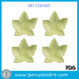Leaf Shaped Set of Kitchen Porcelain Dishes