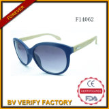 F14062 New Cat Eye Women Sunglass with Bamboo Arms