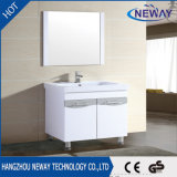 White PVC Vanity Mirror Bathroom Sets Cabinets